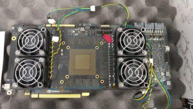 Photo of Прототип печатной платы видеокарты NVIDIA следующего поколения показан на фото